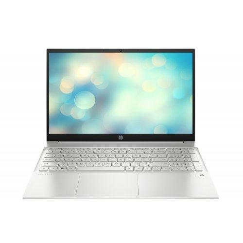 "Лаптоп HP Pavilion 15-eg0005nu Natural Silver, Core i5-1135G7(2.4Ghz, up to 4.2GH/8MB/4C), 15.6"" FHD IPS 300nits AG, 16GB 3200MHz 2DIMM, 512GB PCIe SSD, Nvidia GeForce MX350 2GB, WiFi a/c 2x2 + BT 5, FPR, Backlit Kbd, 3C Batt, Free DOS (снимка 1)"