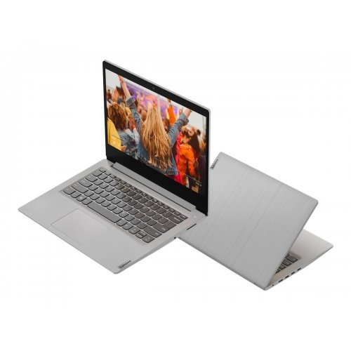 "Лаптоп Lenovo IdeaPad 3 14ADA05, сребрист, 14.0"" (35.56см.) 1920x1080 (Full HD) без отблясъци, Процесор AMD Ryzen 3 3250U (2x/4x), Видео AMD Radeon Vega 3, 4GB DDR4 RAM, 256GB SSD диск, без опт. у-во, FreeDOS ОС (снимка 1)"
