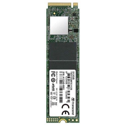 SSD Transcend 512GB, M.2 2280,PCIe Gen3x4, M-Key, 3D TLC, DRAM-less (снимка 1)