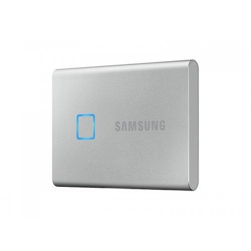 Външен твърд диск Samsung Portable SSD T7 Touch 1TB, USB 3.2, Fingerprint, Read 1050 MB/s Write 1000 MB/s, Silver (снимка 1)