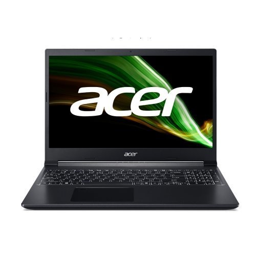 "Лаптоп Acer Aspire 7 A715-42G-R8UF, черен, 15.6"" (39.62см.) 1920x1080 (Full HD) без отблясъци 60Hz IPS, Процесор AMD Ryzen 5 5500U (6x/12x/7x), Видео nVidia GeForce GTX 1650/ 4GB GDDR6, 8GB DDR4 RAM, 512GB SSD диск, без опт. у-во, Linux ОС, Клавиатура- с БДС (снимка 1)"