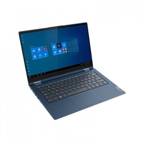 "Лаптоп Lenovo ThinkBook 14s Yoga Intel Core i5-1135G7 (2.4MHz up to 4.2GHz, 8MB), 16GB (8GB+8GB) DDR4 3200MHz, 512GB SSD, 14"" FHD (1920x1080) IPS Glossy, Touch, Intel Iris Xe Graphics, WLAN, BT, 720p Cam, Backlit KB, FPR, Abyss Blue, 4 cell, Win 10 Pro, 3Y (снимка 1)"