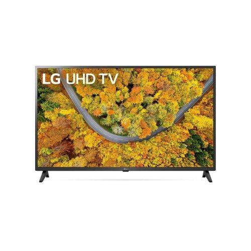 "Телевизор LG 65UP75003LF, 65"" 4K IPS UltraHD TV 3840 x 2160, DVB-T2/C/S2, webOS Smart TV, ThinQ AI, Quad Core Processor 4K, WiFi 802.11ac, HDR10, HLG, AI Sound, Voice Controll, Miracast / AirPlay 2,  HDMI, CI, LAN, USB, Bluetooth, 2 pole Stand, Dark Gray (снимка 1)"