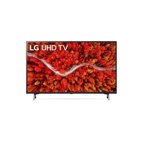 "Телевизор LG 65UP80003LA, 65"" 4K IPS UltraHD TV 3840 x 2160, DVB-T2/C/S2, webOS Smart TV, ThinQ AI, Quad Core Processor 4K, WiFi 802.11ac, HDR10, HLG,  ALLM / HGiG, AI Sound, Voice Controll, Wi-Di, Miracast / AirPlay 2,  HDMI, CI, LAN, USB, Bluetooth, Crescent S (снимка 1)"