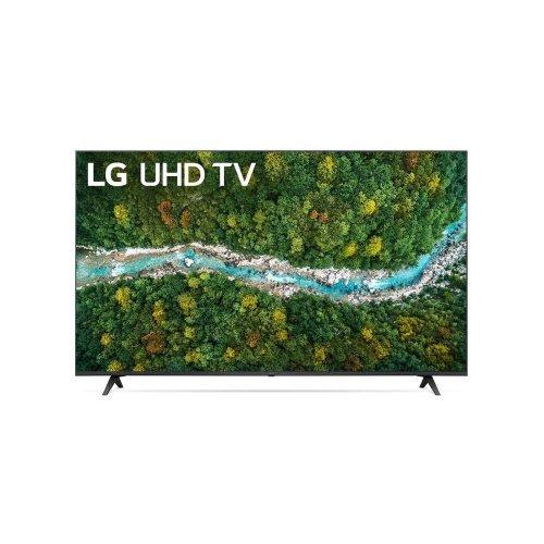 "Телевизор LG 65UP77003LB, 65"" 4K IPS UltraHD TV 3840 x 2160, DVB-T2/C/S2, webOS Smart TV, ThinQ AI, Quad Core Processor 4K, WiFi 802.11ac, HDR10, HLG, AI Sound, Voice Controll, Miracast / AirPlay 2,  HDMI, CI, LAN, USB, Bluetooth, 2 pole Stand, Dark Gray (снимка 1)"