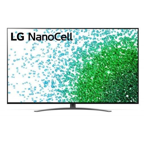 "Телевизор LG 65NANO813PA, 65"" 4K IPS HDR Smart Nano Cell TV, 3840x2160, DVB-T2/C/S2, Quad Core Processor 4K, 4K Active HDR, Ultra Surround, ThinQ, AI,  WiFi 802.11.ac, Voice Controll, Bluetooth, Miracast / AirPlay 2, LAN, CI, HDMI, USB, 2 Pole Stand (снимка 1)"