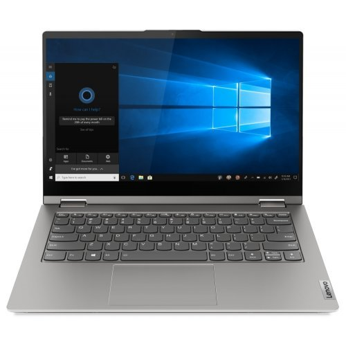 "Лаптоп Lenovo ThinkBook 14s Yoga Intel Core i5-1135G7 (2.4MHz up to 4.2GHz, 8MB), 16GB (8GB+8GB) DDR4 3200MHz, 512GB SSD, 14"" FHD (1920x1080) IPS Glossy, Touch, Intel Iris Xe Graphics, WLAN, BT, 720p Cam, Backlit KB, FPR, Mineral Grey, 4 cell, Win 10 Pro,3Y (снимка 1)"