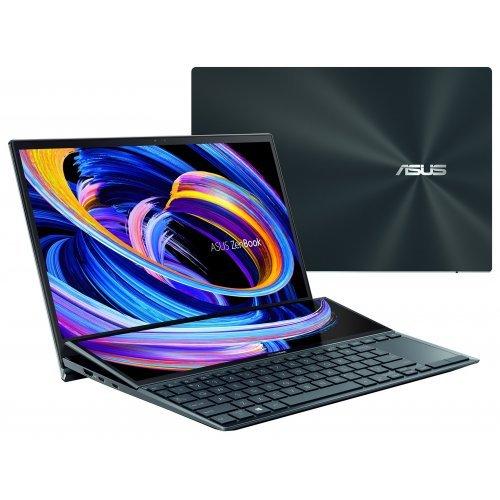 """Лаптоп Asus ZenBook Duo 14 UX482EA-WB513T, син, 14.0"""" (35.56см.) 1920x1080 (Full HD) без отблясъци IPS тъч, Процесор Intel Core i5-1135G7 (4x/8x), Видео Intel Iris Xe Graphics, 16GB LPDDR4X RAM, 512GB SSD диск, без опт. у-во, Windows 10 64 ОС, Клавиатура- светеща (снимка 1)"""