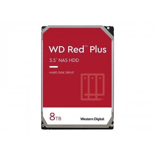 Твърд диск WD Red Plus 8TB SATA 6Gb/s 3.5inch 256MB cache 7200Rpm Internal HDD Bulk (снимка 1)