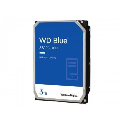 Твърд диск WD Blue 3TB SATA 6Gb/s HDD internal 3.5inch serial ATA 256MB cache 5400 RPM RoHS compliant Bulk (снимка 1)
