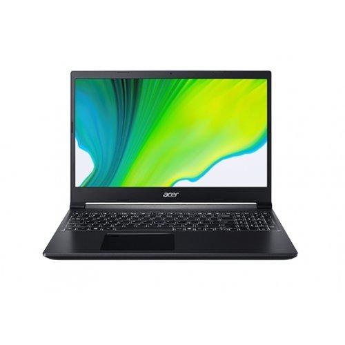 """Лаптоп Acer Aspire 7 A715-75G-577V, черен, 15.6"""" (39.62см.) 1920x1080 (Full HD) без отблясъци 60Hz IPS, Процесор Intel Core i5-10300H (4x/8x), Видео nVidia GeForce GTX 1650 Ti/ 4GB GDDR6, 8GB DDR4 RAM, 512GB SSD диск, без опт. у-во, Linux ОС, Клавиатура- с БДС (снимка 1)"""