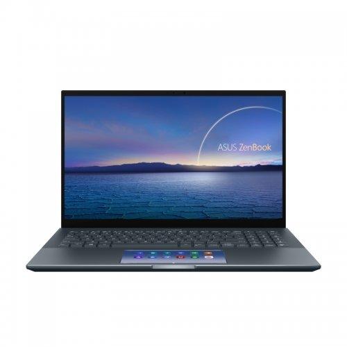 "Лаптоп Asus ZenBook Pro 15 UX535LI-OLED-WB523R, ScreenPad, сив, 15.6"" (39.62см.) 3840x2160 (4K Ultra HD) лъскав тъч, Процесор Intel Core i5-10300H (4x/8x), Видео nVidia GeForce GTX 1650 Ti/ 4GB GDDR6, 16GB DDR4 RAM, 512GB SSD диск, без опт. у-во, Windows 10 Pro 64 ОС, Клавиатура- светеща (снимка 1)"
