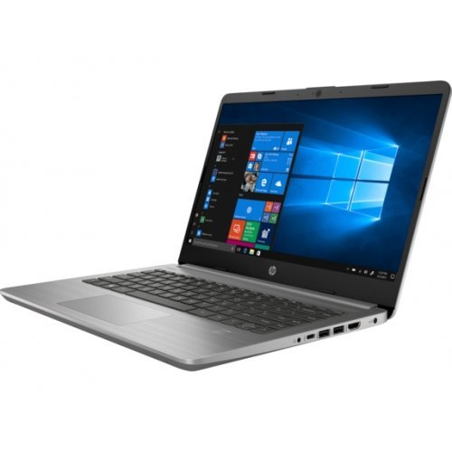 """Лаптоп HP 340S G7, сребрист, 14.0"""" (35.56см.) 1920x1080 (Full HD) без отблясъци IPS, Процесор Intel Core i5-1035G1 (4x/8x), Видео Intel UHD Graphics, 8GB DDR4 RAM, 256GB SSD диск, без опт. у-во, Windows 10 Pro 64 (при поискване) ОС, Клавиатура- с БДС (снимка 1)"""
