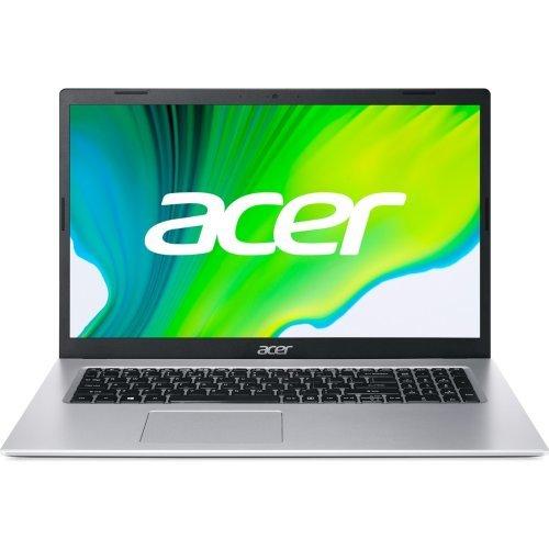 "Лаптоп Acer Aspire 3, сребрист, 17.3"" (43.94см.) 1920x1080 (Full HD) без отблясъци 60Hz IPS, Процесор Intel Pentium N6000 (4x/4x), Видео Intel UMA Graphics, 8GB DDR4 RAM, 256GB SSD диск, без опт. у-во, Linux ОС, Клавиатура- с БДС (снимка 1)"