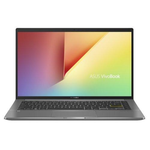 "Лаптоп Asus Vivobook S14 S435EA-WB711R, зелен, 14.0"" (35.56см.) 1920x1080 (Full HD) без отблясъци 60Hz IPS, Процесор Intel Core i7-1165G7 (4x/8x), Видео Intel Iris Xe Graphics, 8GB LPDDR4X RAM, 512GB SSD диск, без опт. у-во, Windows 10 Pro 64 ОС, Клавиатура- светеща с БДС (снимка 1)"