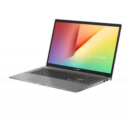 """Лаптоп Asus Vivobook S15 S533EQ-WB727T, сив, 15.6"""" (39.62см.) 1920x1080 (Full HD) без отблясъци 60Hz IPS, Процесор Intel Core i7-1165G7 (4x/8x), Видео nVidia GeForce MX350/ 2GB GDDR5, 16GB DDR4 RAM, 512GB SSD диск, без опт. у-во, Windows 10 ОС, Клавиатура- светеща с БДС (снимка 1)"""