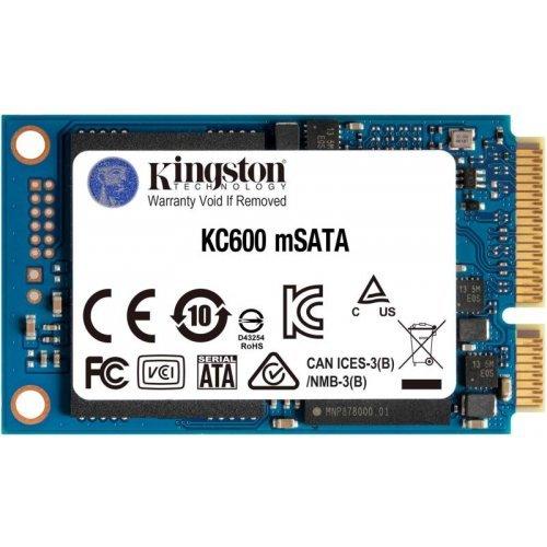 """SSD KINGSTON 512GB KC600 SSD, 2.5"""" 7mm, mSATA 6 Gb/s, Read/Write: 550 / 520 MB/s, Random Read/Write IOPS 90K/80K (снимка 1)"""