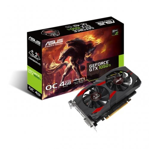 Видео карта nVidia ASUS Cerberus GeForce GTX 1050 Ti OC Edition, 4GB GDDR5, 128-bit (снимка 1)