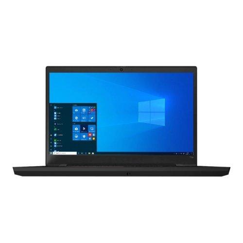 "Лаптоп Lenovo ThinkPad T15p Gen 1 20TN, черен, 15.6"" (39.62см.) 3840x2160 (4K Ultra HD) без отблясъци IPS, Процесор Intel Core i7-10750H (6x/12x), Видео nVidia GeForce GTX 1050 3GB GDDR5, 16GB DDR4 RAM, 512GB SSD диск, без опт. у-во, Windows 10 Pro 64 English ОС, Клавиатура- светеща с БДС (снимка 1)"