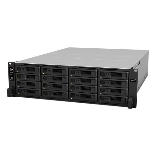 NAS устройство 40-bay Synology NAS server for Large Scale Business(16 bays on base, expandable to 40 with 2x RX1217/RX1217RP), Rackmount RS4021xs+ (снимка 1)