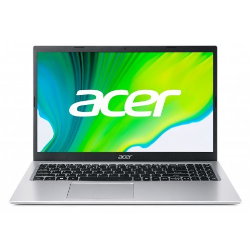 """Лаптоп Acer Aspire 3 A315-35-C2QE, сребрист, 15.6"""" (39.62см.) 1920x1080 (Full HD) без отблясъци, Процесор Intel Celeron N5100 (4x/4x), Видео Intel UHD, 4GB DDR4 RAM, 256GB SSD диск, без опт. у-во, Boot-up Linux ОС, Клавиатура- с БДС (снимка 1)"""