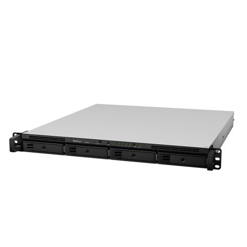 NAS устройство 8-bay Synology RS820+, NAS Server for Small and Medium Business( 4 bays on base, expandable to 8 with RX418) , Rackmount 1U, 44 x 480 x 492.6 mm_60 месеца гаранция (снимка 1)