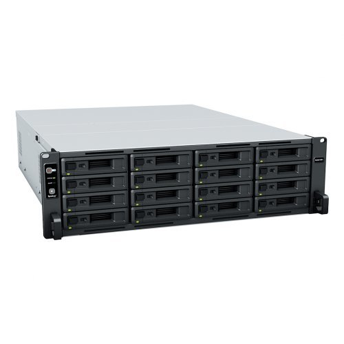 NAS устройство 28-bay Synology NAS Server for  Small and Medium Business( 16 bays on base, expandable to 28 with RX1217/RX1217RP) , Redundant PSU, 3U Rackmount RS2821RP+_60 месеца гаранция (снимка 1)
