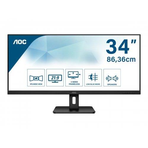 Монитор AOC Q34E2A 34inch 21:9 2560x1080 1000:1 HDMI DP (снимка 1)