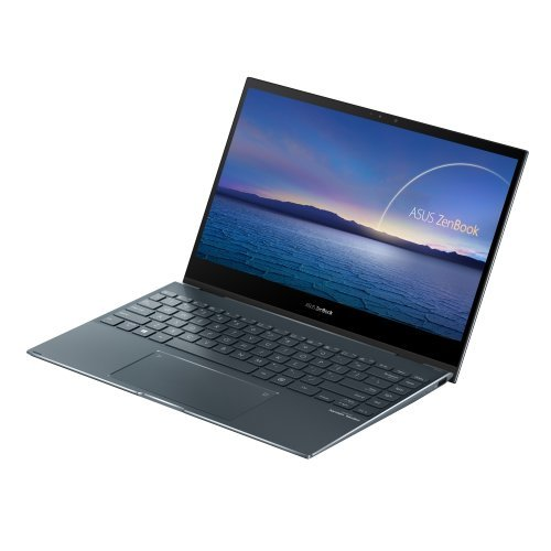"""Лаптоп Asus Zenbook Flip UX363JA-WB502T, сив, 13.3"""" (33.78см.) 1920x1080 (Full HD) лъскав 60Hz IPS тъч, Процесор Intel Core i5-1035G4 (4x/8x), Видео Intel Iris Plus Gen 11, 8GB LPDDR4X RAM, 512GB SSD диск, без опт. у-во, Windows 10 64 ОС, Клавиатура- светеща с БДС (снимка 1)"""