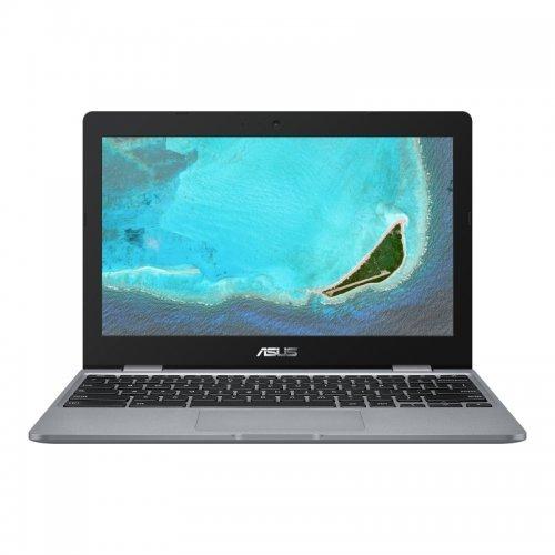"Лаптоп Asus Chromebook C223NA-GJ0055, сив, 11.6"" (29.46см.) 1366x768 (HD) без отблясъци, Процесор Intel Celeron Dual-Core N3350, Видео Intel HD 500 Gen 9, 4GB LPDDR4 RAM, 32GB eMMC диск, без опт. у-во, Chrome OS ОС (снимка 1)"