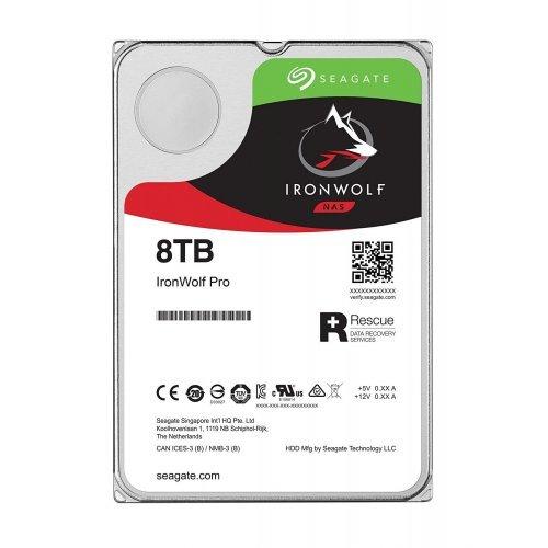 Твърд диск SEAGATE 8TB Iron Wolf Pro, ST8000NE001, NAS, 256MB Cache, SATA 6.0Gb/s, 7200rpm (снимка 1)