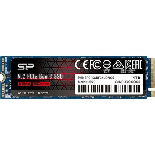 SSD SILICON POWER 1TB UD70 SSD, M.2 2280, PCIe Gen 3x4, Read/Write: 3400 / 3000 MB/s (снимка 1)