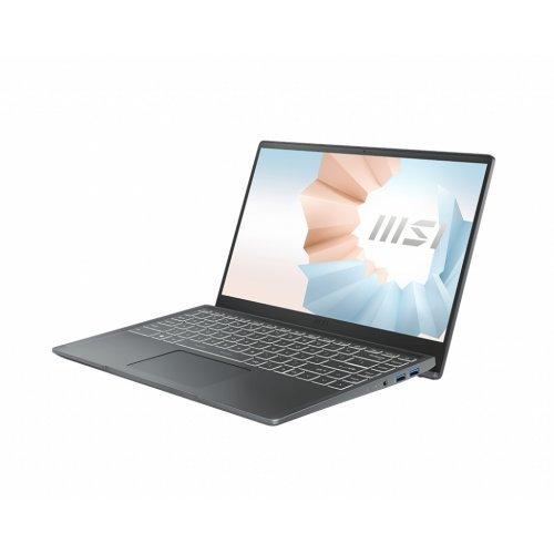 """Лаптоп MSI MODERN 14 B11MO-269BG-GG31115U8GXXDXX, сив, 14.0"""" (35.56см.) 1920x1080 (Full HD) 60Hz IPS, Процесор Intel Core i3-1115G4 (2x/4x), Видео Intel Iris Xe Graphics, 8GB DDR4 RAM, 256GB SSD диск, без опт. у-во, без ОС, Клавиатура- светеща (снимка 1)"""