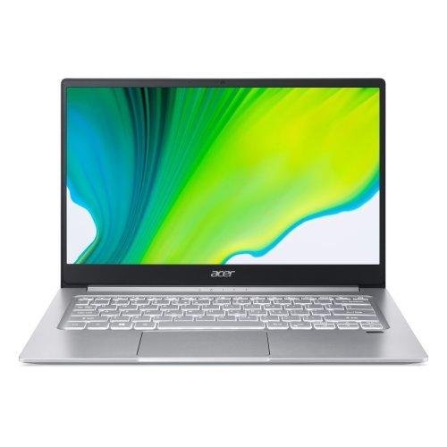 """Лаптоп Acer Swift 3 SF314-42-R9, сребрист, 14.0"""" (35.56см.) 1920x1080 (Full HD) без отблясъци 60Hz IPS, Процесор AMD Ryzen 5 4500U (6x/6x), Видео AMD Radeon Graphics, 8GB LPDDR4 RAM, 512GB SSD диск, без опт. у-во, Windows 10 ОС, Клавиатура- светеща с БДС + раница и безжична мишка Acer 15.6"""" ABG950, черни, NP.ACC11.029 (снимка 1)"""