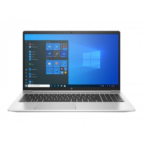 "Лаптоп HP ProBook 450 G8, сребрист, 15.6"" (39.62см.) 1920x1080 (Full HD) без отблясъци IPS, Процесор Intel Core i5-1135G7 (4x/8x), Видео Intel Iris Xe Graphics, 8GB DDR4 RAM, 512GB SSD диск, без опт. у-во, FreeDOS ОС, Клавиатура- светеща с БДС (снимка 1)"