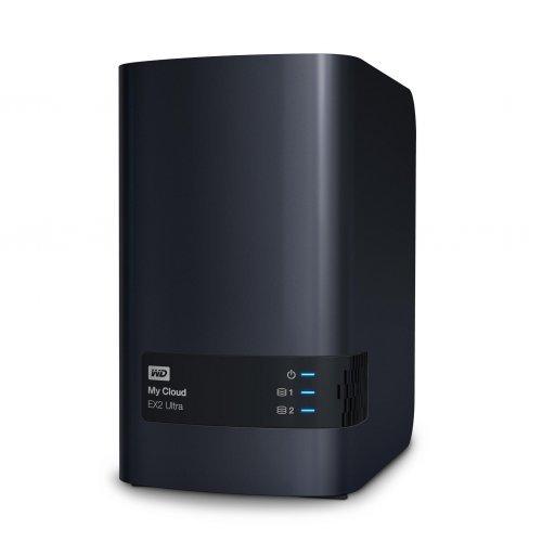 NAS устройство Western MyCloud EX2 Ultra NAS, 16TB, 2 x USB 3.0, RJ-45, Черен (снимка 1)