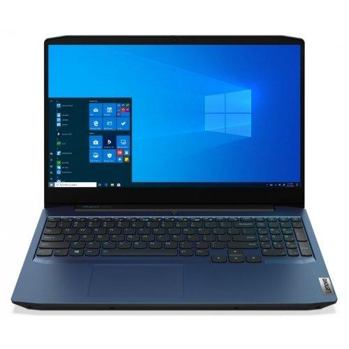 """Лаптоп Lenovo IdeaPad Gaming 3 15ARH05 82EY, син, 15.6"""" (39.62см.) 1920x1080 (Full HD) без отблясъци 60Hz, Процесор AMD Ryzen 7 4800H (8x/16x), Видео nVidia GeForce GTX 1650 Ti/ 4GB GDDR6, 16GB DDR4 RAM, 512GB SSD диск, без опт. у-во, без ОС, Клавиатура- светеща с БДС (снимка 1)"""