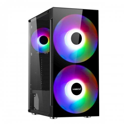 Компютърна кутия Makki Case ATX Gaming - F10 RGB 2F (снимка 1)