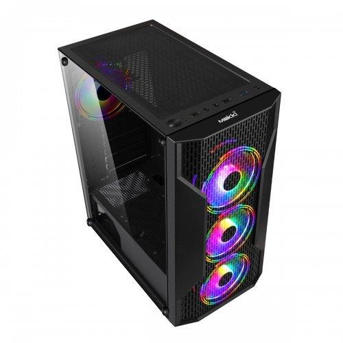 Компютърна кутия Makki Case ATX Gaming - F09 RGB 3F Mesh (снимка 1)