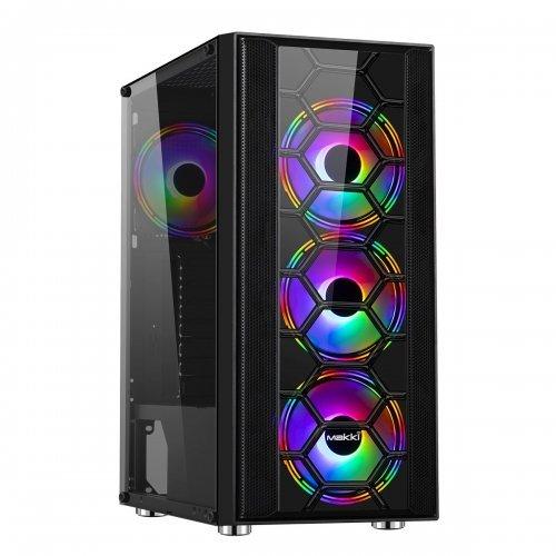Компютърна кутия Makki Case ATX Gaming - F07 RGB 3F (снимка 1)