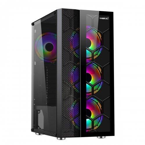 Компютърна кутия Makki Case ATX Gaming - F05 RGB 3F (снимка 1)
