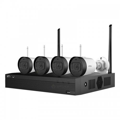 Комплект мрежови NVR с камери  Dahua комплект NVR1104HS мрежов видео рекордер + 4 IP камери IPC-G22 Imou, WiFi  + 1TB HDD (снимка 1)