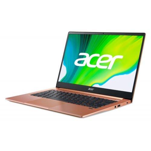 "Лаптоп Acer Swift 3 SF314-59-31X2, melon pink, 14.0"" (35.56см.) 1920x1080 (Full HD) без отблясъци 60Hz IPS, Процесор Intel Core i3-1115G4 (2x/4x), Видео Intel Iris Xe Graphics, 8GB DDR4 RAM, 256GB SSD диск, без опт. у-во, Windows 10 ОС, Клавиатура- светеща с БДС (снимка 1)"