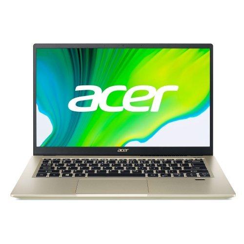 """Лаптоп Acer Swift 3X SF314-510G-702J, златист, 14.0"""" (35.56см.) 1920x1080 (Full HD) без отблясъци IPS, Процесор Intel Core i7-1165G7 (4x/8x), Видео Intel Iris Xe Max Graphics, 16GB LPDDR4X RAM, 1024GB SSD диск, без опт. у-во, Windows 10 64 ОС (снимка 1)"""