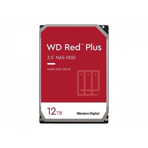 Твърд диск WD Red Plus 12TB SATA 6Gb/s 3.5inch 256MB cache 7200Rpm Internal HDD Bulk (снимка 1)