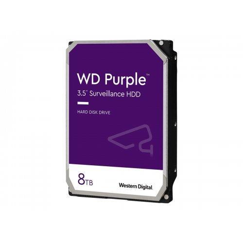 Твърд диск WD Purple 8TB SATA 6Gb/s CE HDD 8.9cm 3.5inch internal 7200Rpm 128MB Cache 24x7 Bulk (снимка 1)