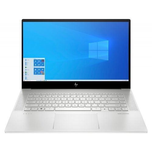 "Лаптоп HP Envy 15-ep0000nu Natural Silver, Intel® Core™ i5-10300H(2.5Ghz, up to 4.5GHz/8MB/4C), 15.6"" FHD AG IPS, 16GB 2933Mhz 2DIMM, 1TB PCIe SSD, Nvidia GeForce GTX 1650ti 4GB, WiFi 6AX201 + BT, Backlit Kbd, 6C Batt, Win 10 Home+HP Travel USB-C Multi Port Hub (снимка 1)"