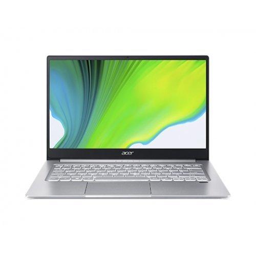 "Лаптоп Acer Swift 3 SF314-59-36W3, сребрист, 14.0"" (35.56см.) 1920x1080 (Full HD) IPS, Процесор Intel Core i3-1115G4 (2x/4x), Видео Intel Iris Xe Graphics, 8GB LPDDR4X RAM, 256GB SSD диск, без опт. у-во, Windows 10 64 ОС, Клавиатура- светеща (снимка 1)"