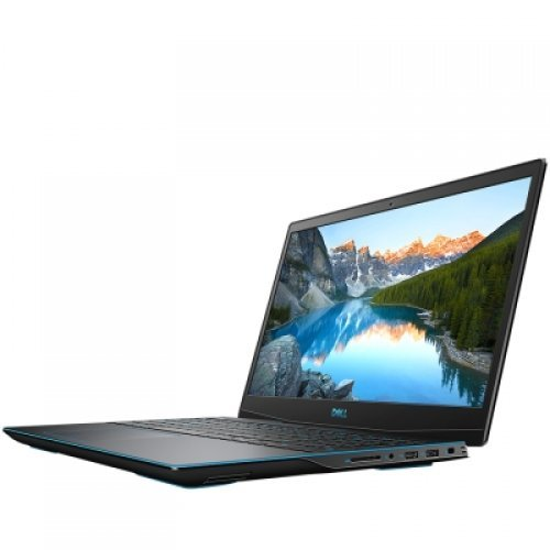 "Лаптоп Dell Inspiron Gaming G3 3500, 15.6"" (1920x1080) 120Hz 250nits AG WVA, Core i7-10750H(12MB, up to 5.0 GHz, 6 cores), 8GB(2x4GB) DDR4 2933MHz, 512GB M.2 NVMe SSD, 130 Watt, 3-cell 51WHr, NVIDIA GTX 1650Ti(4GB GDDR6), WiFi and BT, US Kbd, Ubuntu, 3Y CIS (снимка 1)"