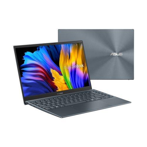 """Лаптоп Asus ZenBook UX325EA-OLED-WB523T, сив, 13.3"""" (33.78см.) 1920x1080 (Full HD) лъскав 60Hz, Процесор Intel Core i5-1135G7 (4x/8x), Видео Intel Iris Xe Graphics, 16GB LPDDR4X RAM, 512GB SSD диск, без опт. у-во, Windows 10 ОС, Клавиатура- светеща с БДС (снимка 1)"""